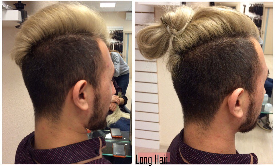 Наращивание волос мужчинам цена